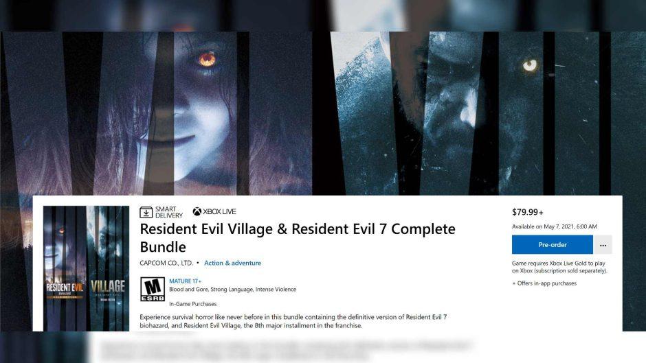 Se filtra el pack Resident Evil Village y Resident Evil 7 en la Microsoft Store
