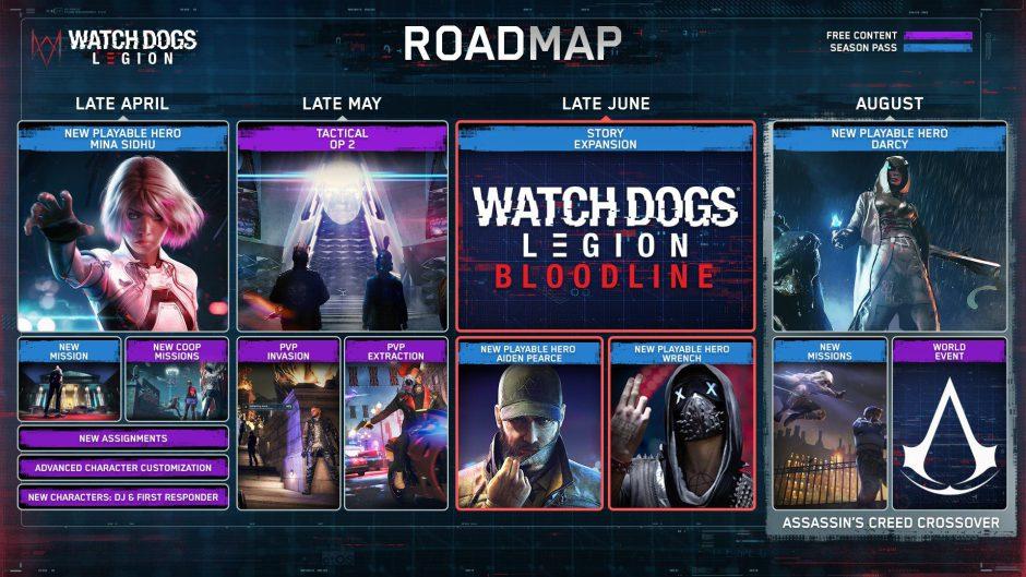 ¡Vuelve Aiden Pierce! Ubisoft presenta el roadmap de Watch Dogs: Legion