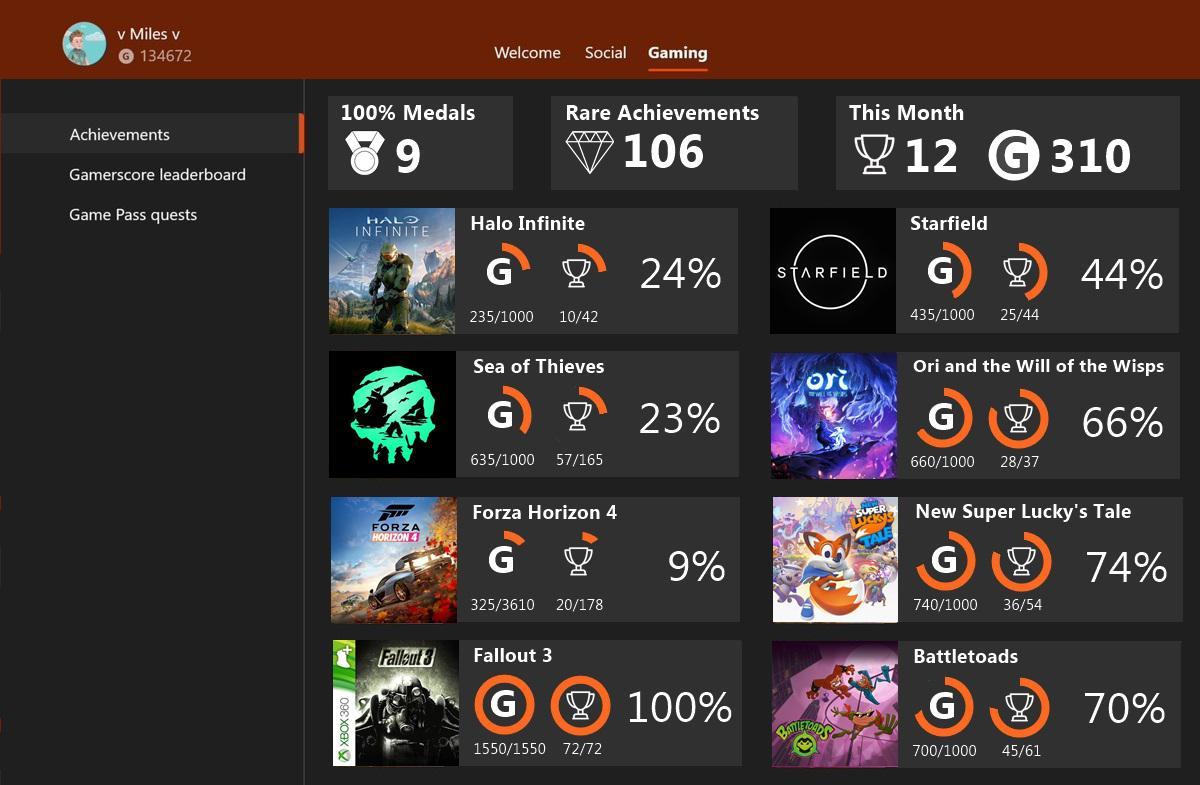 Logros en Xbox
