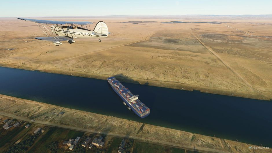 El bloqueo del canal de Suez llega a Microsoft Flight Simulator 2020