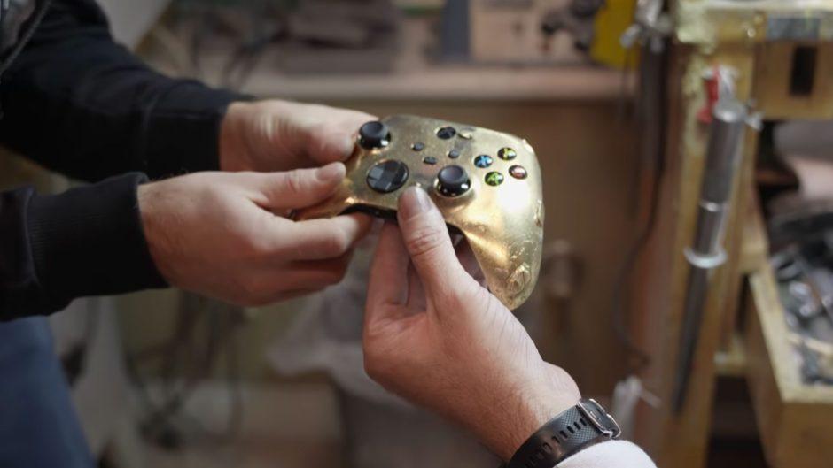 ¿Quieres saber como se hace el mando de Xbox de oro? Aquí lo tienes