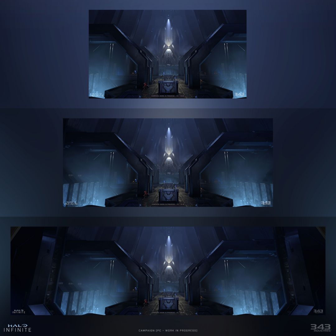 343 Industries muestra como Halo Infinite llegará preparado para monitores ultra panorámicos