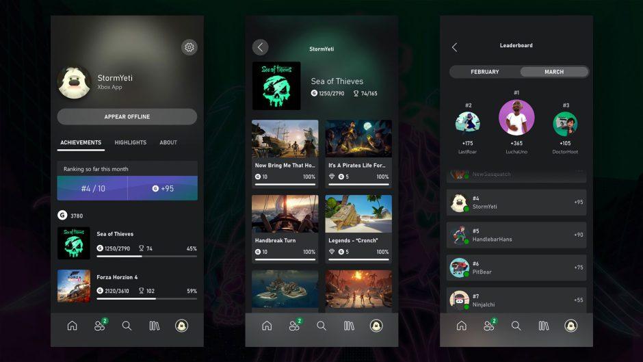 La actualización de Xbox está aquí, nuevas características para Game Pass, logros para la app móvil, tablas de clasificaciones y más