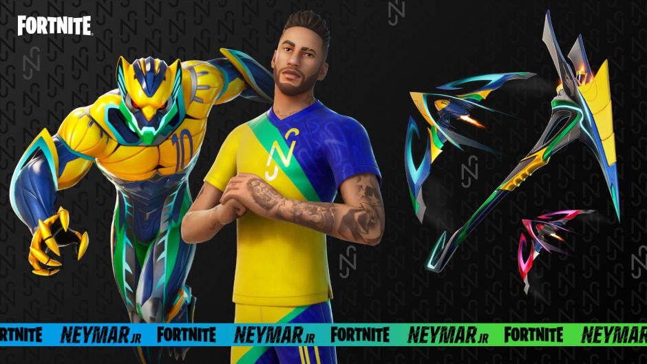 Neymar llega a Fortnite en dos días