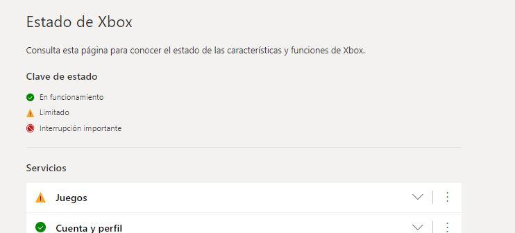 Xbox Live Caído