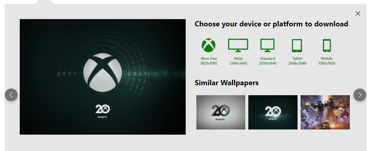 Descarga aquí los Wallpapers del 20 aniversario de Xbox - Microsoft está ofreciendo en su sitio web algunos wallpapers o fondos de pantalla para tu móvil, Xbox, PC y otros dispositivos.