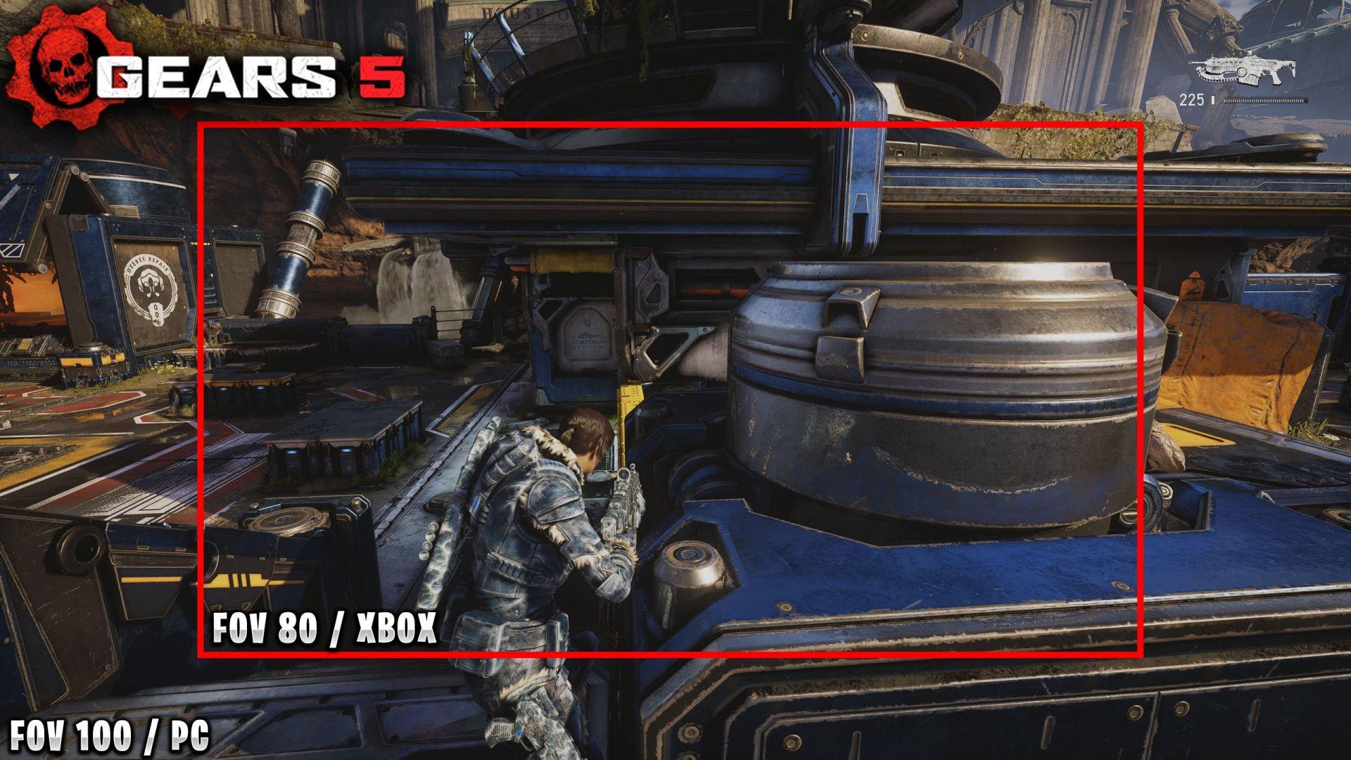 Podremos aumentar el FOV al máximo en Gears 5 en su versión de consolas