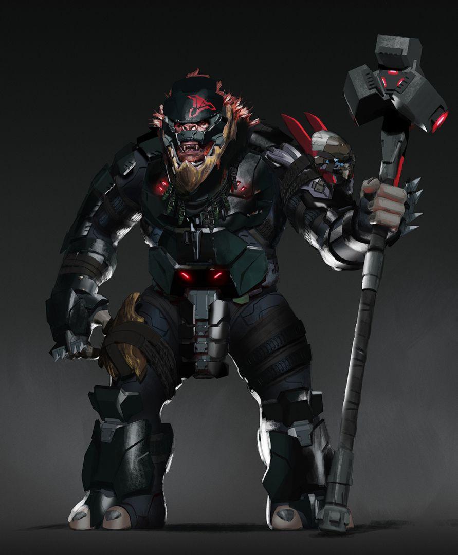 343 Industries muestra arte conceptual de jefes brute y otros elementos de Halo Infinite - 343 Industries ha revelado arte de importantes brutes de los Desterrados y otros elementos que tendremos en la campaña de Halo Infinite.