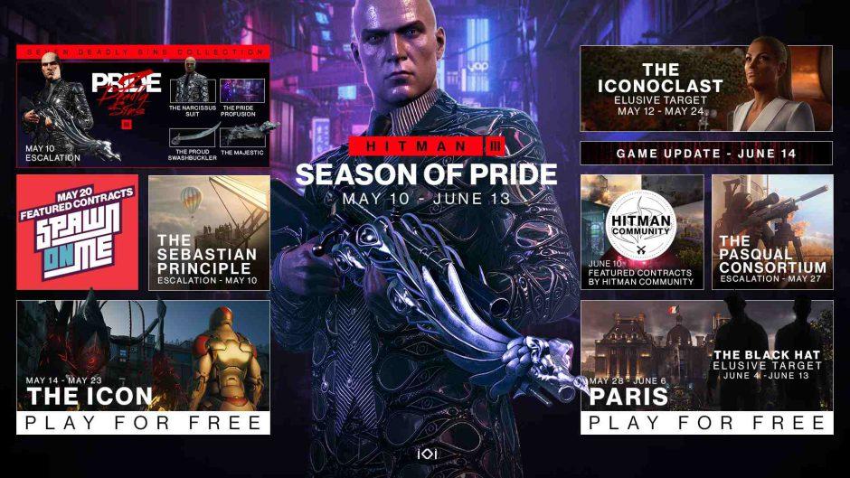 Hitman 3 estrena nueva temporada desde hoy mismo: Season of Pride