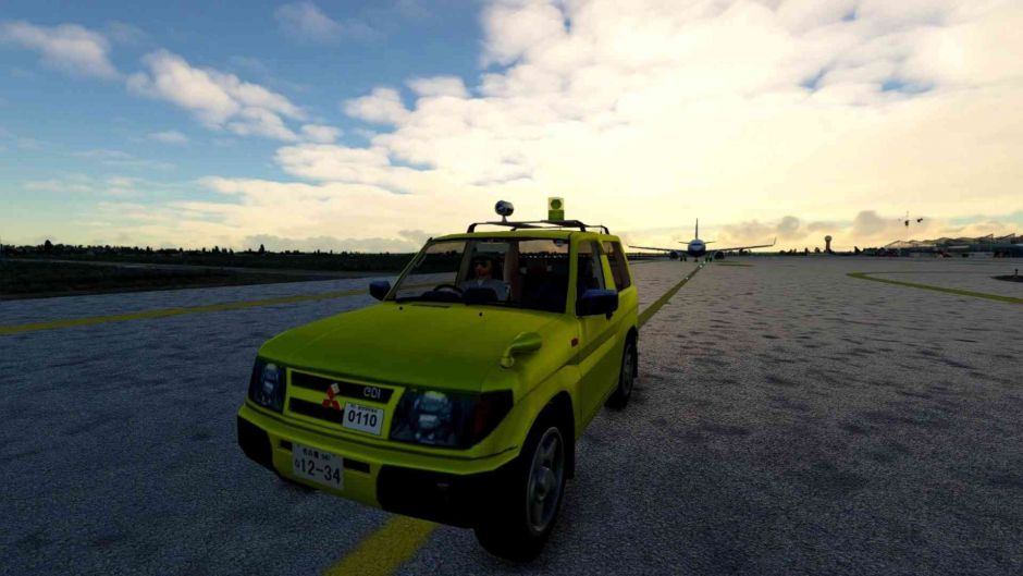 Brutal, conduce un coche en Microsoft Flight Simulator