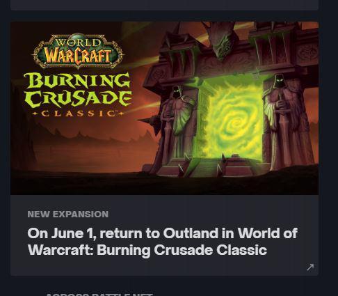 Burning Crusade podría llegar a World of Warcraft Classic el próximo 1 de junio