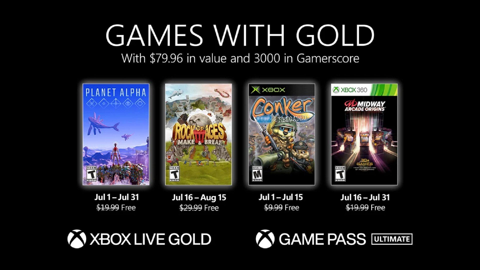 Revelados los juegos con Gold del mes de julio para Xbox - Como era de esperar, antes de finalizar el mes Microsoft ha anunciado los juegos con Gold del mes de julio para Xbox.