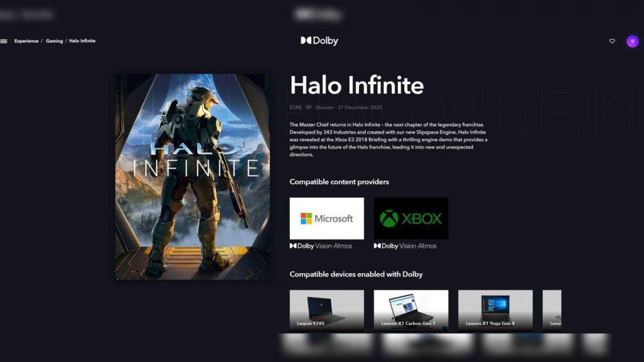 Halo Infinite listado como compatible con Dolby Atmos en Xbox y PC