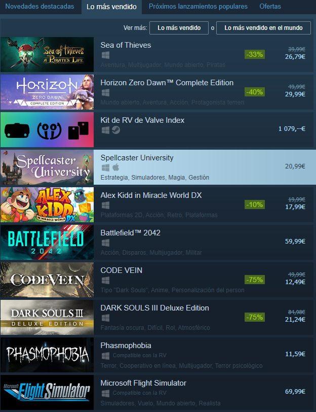 Sea of Thieves vuelve a conseguir el primer puesto en el top de ventas de Steam - El título Sea of Thieves vuelve a estar en el primer puesto del top de lo más vendido en la plataforma de Steam.