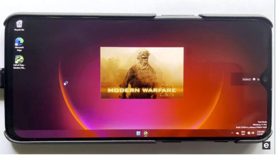 Ejecutan Modern Warfare 2 a través de Windows 11 instalado en un OnePlus 6T