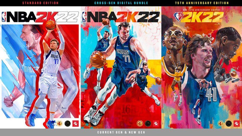 NBA 2K22: Luka Dončić, Kareem Abdul-Jabbar y Dirk Nowitzki y Kevin Durant serán portada del juego