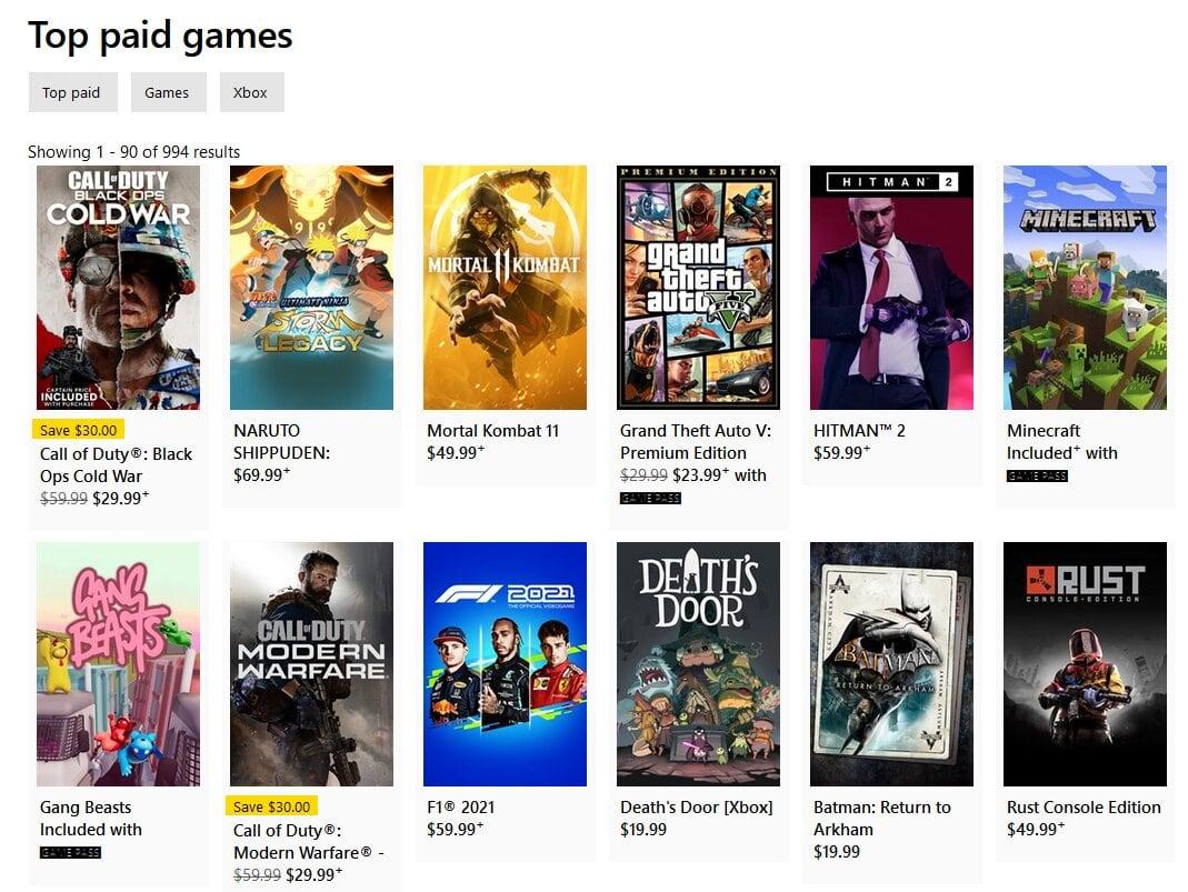 Mas vendidos Xbox Store - Death's Door