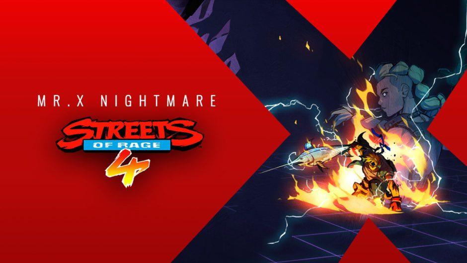 Ya disponible Mr. X Nightmare, el primer DLC de Streets of Rage 4