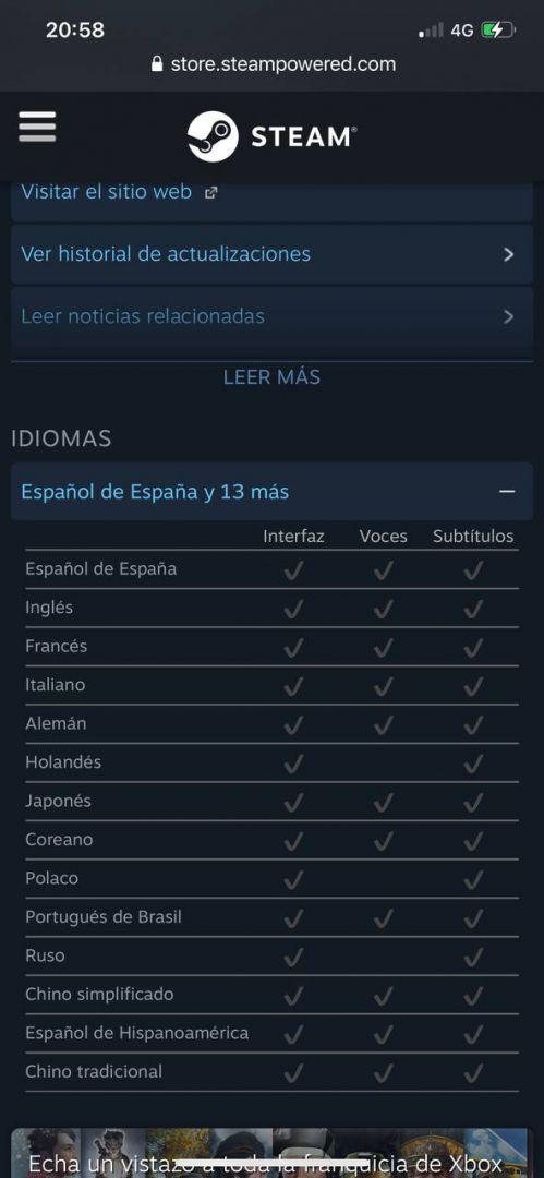 Halo infinite - idiomas