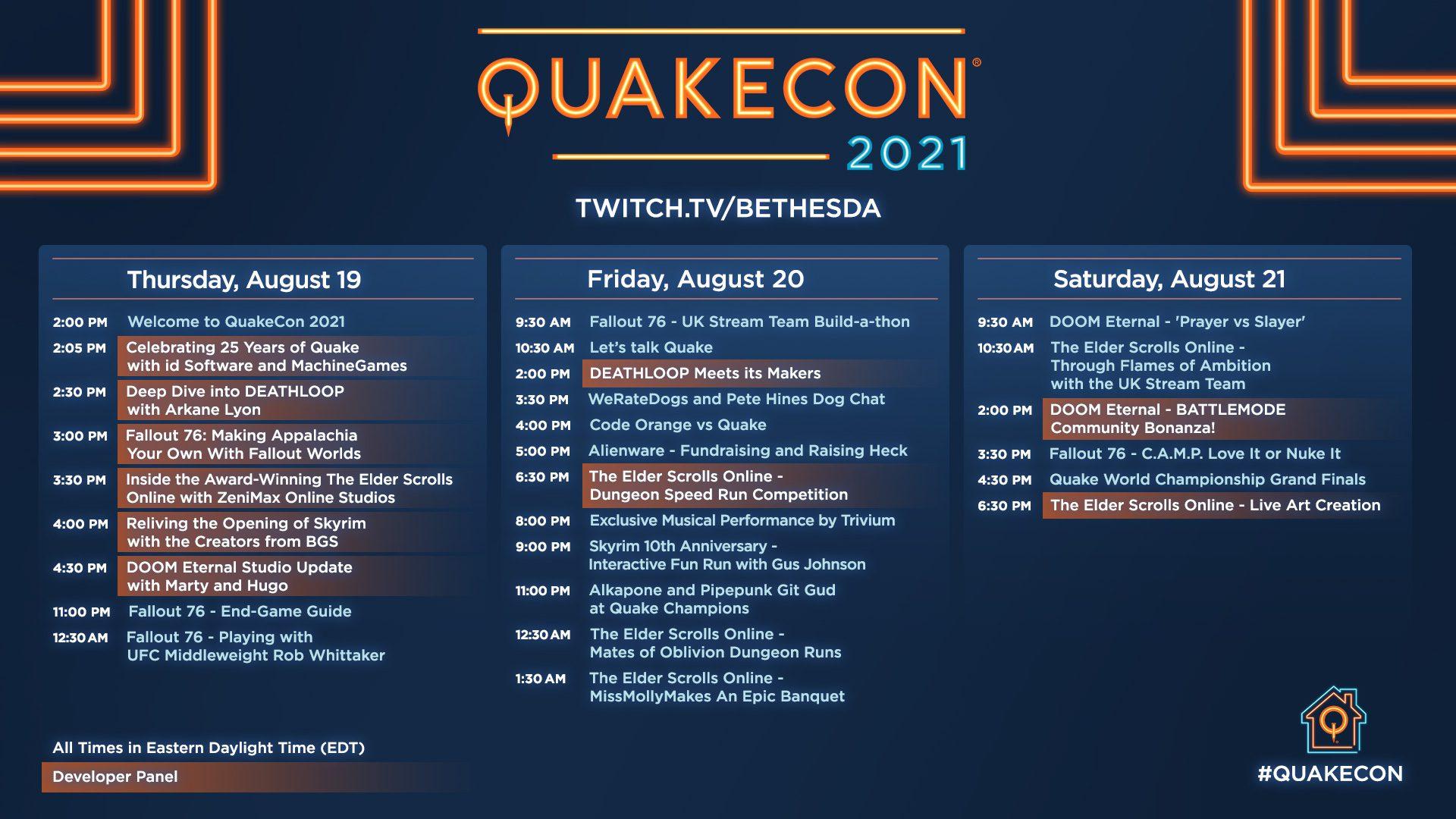 Horario QuakeCon