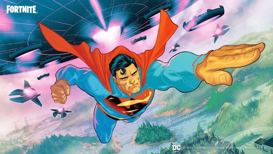 Superman aterriza en la isla de Fortnite Battle Royale