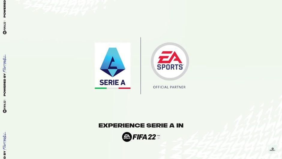 FIFA 22 se asocia en exclusiva con la Serie A italiana