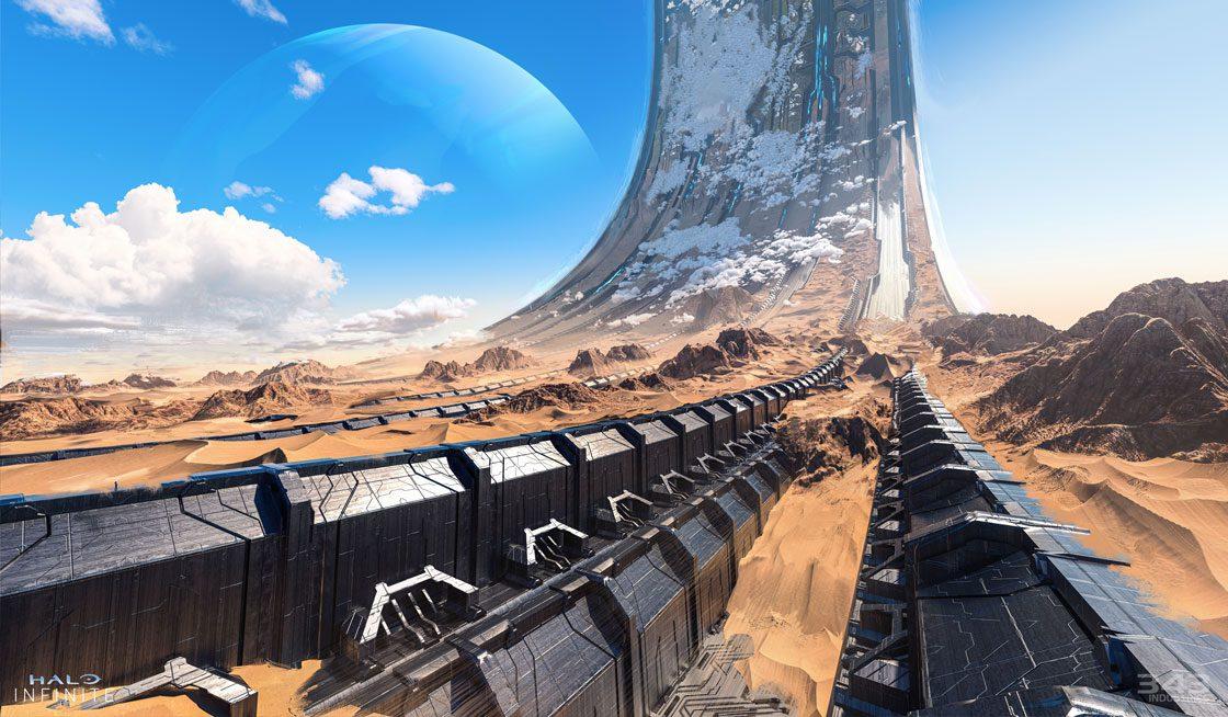 """343 Industries muestra algunos concept art del mapa """"Behemoth"""" de Halo Infinite - 343 Industries ha mostrado unos concept art de uno de los mapas para """"Big Team Battle"""" que podremos jugar en la nueva prueba de Halo Infinite."""