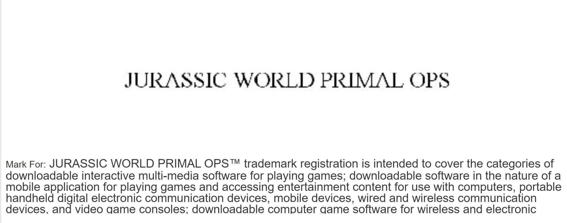 Jurassic World Primal Ops