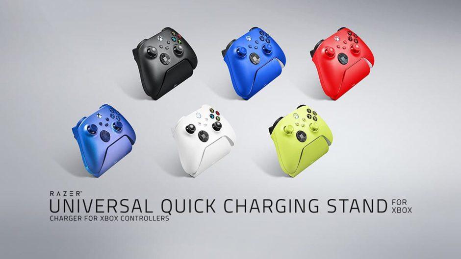 Razer presenta sus coloridas bases de carga para los mandos de Xbox