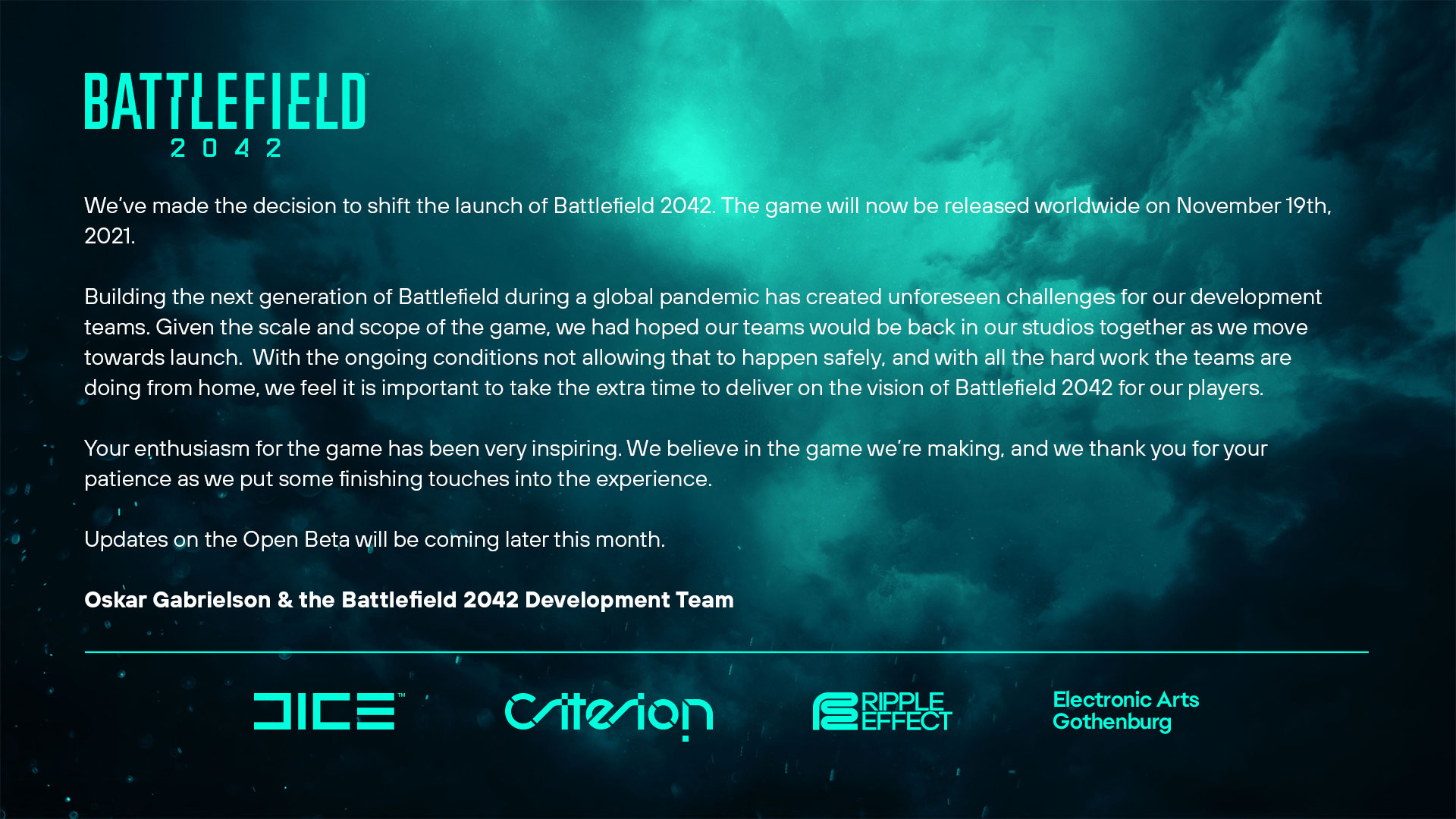 Battlefield 2042 retrasado