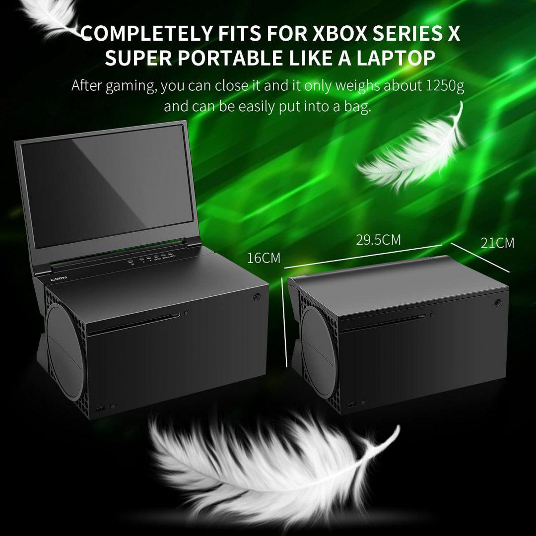 Convierte tu Xbox Series X en una estación portátil con el monitor G-STORY - Hoy os hablo del monitor G-STORY diseñado para convertir nuestra Xbox Series X en una consola transportable gracias a su diseño.